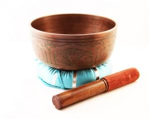 "6"" Diameter Tibetan Singing Bowl with Striker and Cushion"
