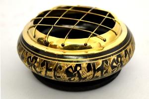 Carved Brass Censer Resin Incense Burner