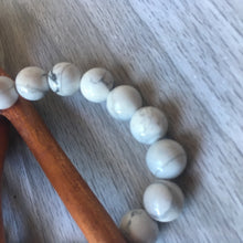 Howlite Bracelet 8mm Round Beads - Jewelry - Cosmic Corner Savannah