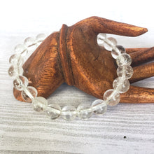 Clear Quartz Stretch Bracelet || 8mm Round Beads - Jewelry - Cosmic Corner Savannah