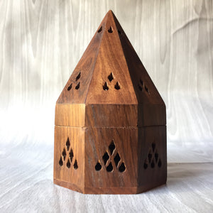 Temple Incense Wood Burner