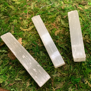 "4"" Selenite Raw Wands"
