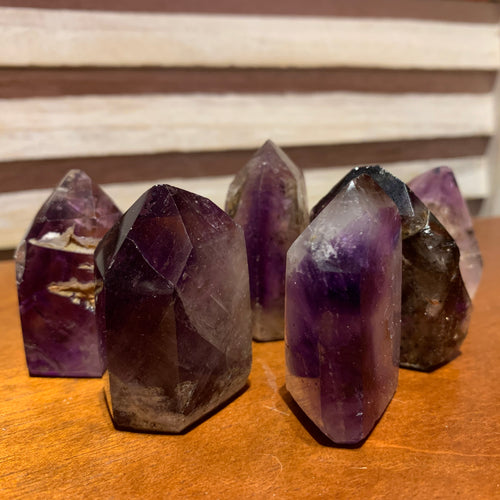 Amethyst Inclusion Quartz Point Generator Standing Point