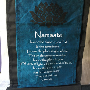 "Small Cotton Banner - ""Namaste"""