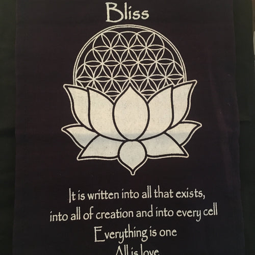 "Small Cotton Banner - ""Bliss"" - Decor - Cosmic Corner Savannah"