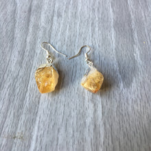 Citrine Electroformed Point Earrings