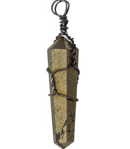 Pyrite Wire-Wrapped  Pendant