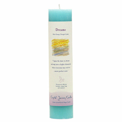 Reiki Herbal Pillar Candle Dreams