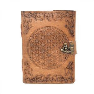 Leather Journal - Flower of Life
