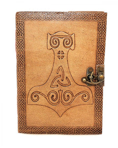 Leather Journal - Thor's Hammer