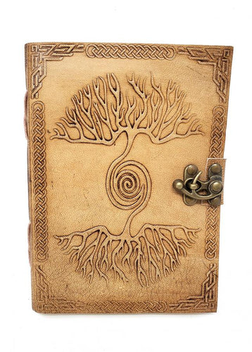 Leather Journal - Spiral Tree of Life