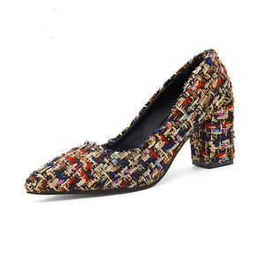 Zapatos Altos Retro Tweed