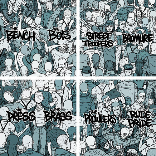 ISS 001-004 Set - Bromure / Street Troopers, The Brass / The Press, The Prowlers / Rude Pride, The Bench / The Bois