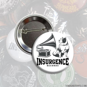 "Insurgence - logo white 1"" Pin"