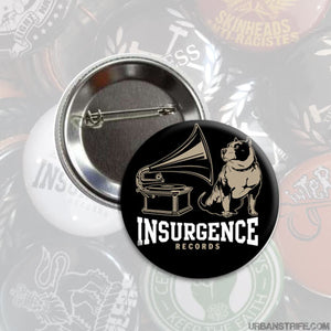 "Insurgence - logo black 1"" Pin"