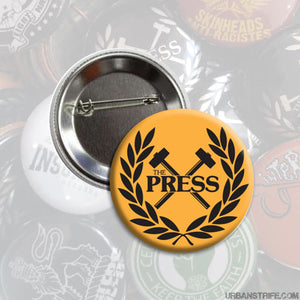 "The Press - Logo orange 1"" Pin"