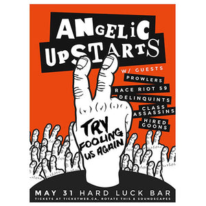 Angelic Upstarts - 2014 Tour Screenprint