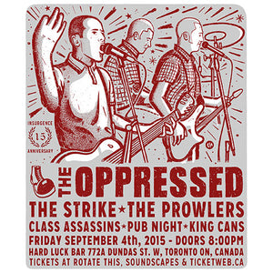 The Oppressed / The Strike - 2015 Tour Screenprint