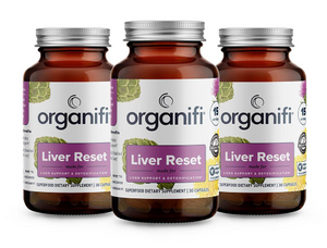 Organifi Liver Reset - Vegan Superfood Blend - 3 pack
