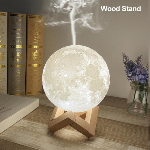 Ultrasonic Moon Lamp Air Humidifier essential oil diffuser
