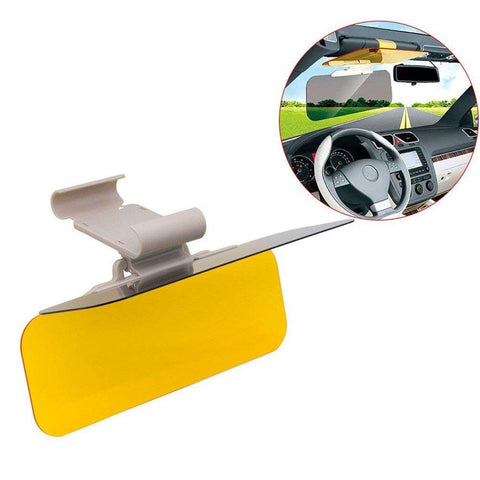2 in 1 HD Tac Visor Day/Night Anti Glare Visor Driving Mirror