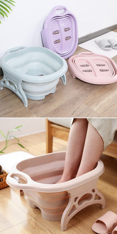 Foldable Foot Bath Plain Massage