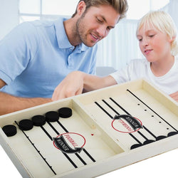 Table Hockey Game For Adult & Child - Sling Puck Toy