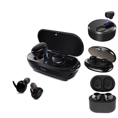 Sago S9100 Wireless Bluetooth Earphones with Mic and Charging Dock