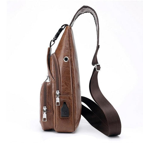 Luxury Cross-Body Bag With USB