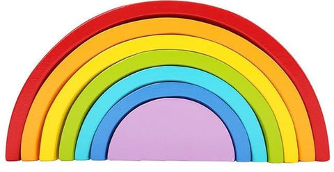 Wooden Rainbow Stacker - Educational Toy