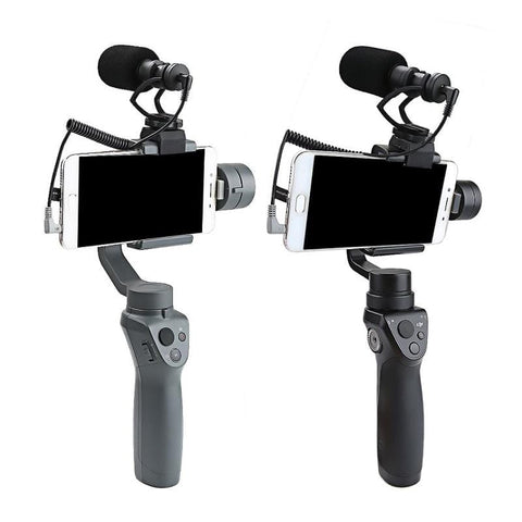 2 in 1 Directional Condenser Video Microphone Mount for Mobile Phone
