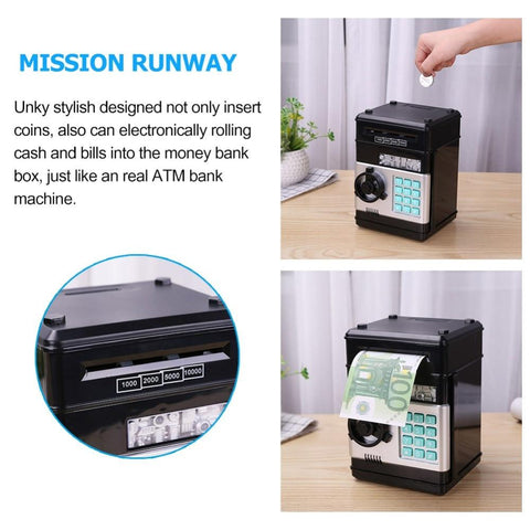 Electronic Piggy Bank and ATM Password Money Box