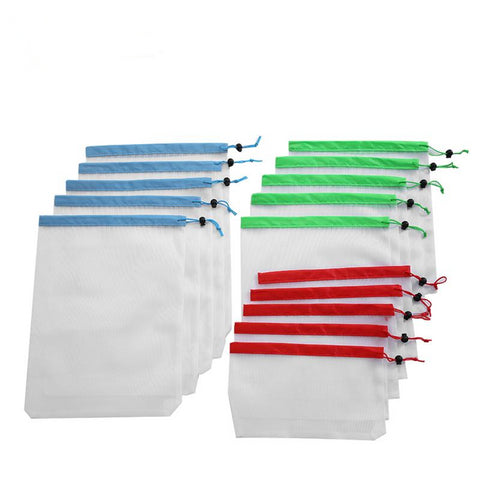Zero Waste Reusable Produce Bags - 15pc