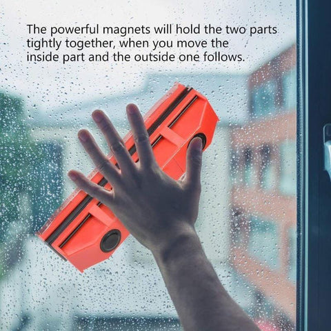 Magnetic Window Cleaner - Double Sided Brush