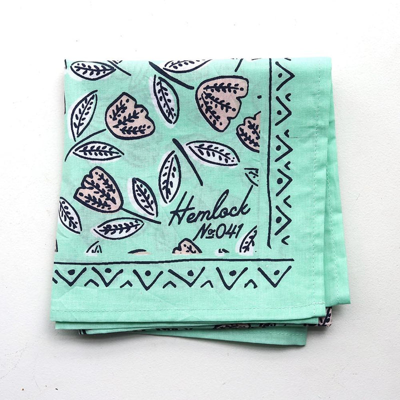 Hemlock Annie Bandana - Handkerchief - Neckerchief - Women's Accessory - Women's Clothing Store - Ladies Boutique - O KOO RAN - Big Bear Lake California