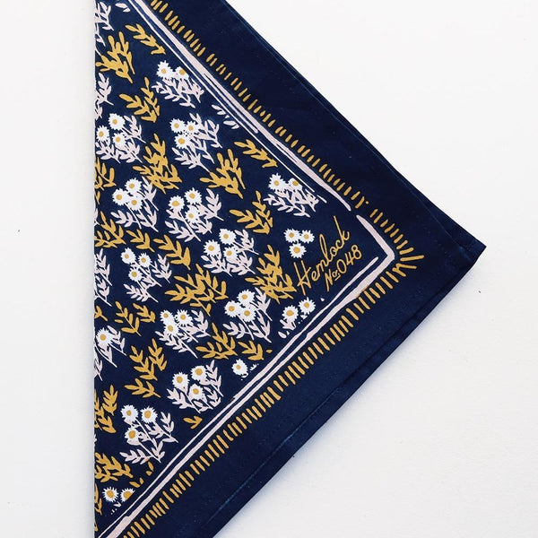 Hemlock Tilly Bandana - Handkerchief - Neckerchief - Scarf - Accessory - Women's Clothing Store - Ladies Boutique - Women's Accessories - O KOO RAN - Big Bear Lake California