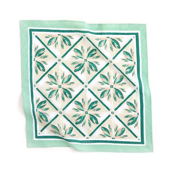1canoe2 Highland Tile Bandana - Handkerchief - Neckerchief - Women's Accessory - Women's Clothing Store - Ladies Boutique - O KOO RAN - Big Bear Lake California