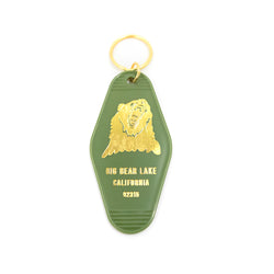 Big Bear Lake Keychain - Custom Logo Key Tag - Gold Label - Imprinted - Keyring - Women's Clothing Store - Boutique - O KOO RAN - Big Bear Lake California