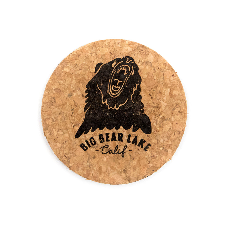 Big Bear Lake Custom Logo - Souvenir Item - Cork Magnet - Women's Clothing Store - Boutique - O KOO RAN - Big Bear Lake California