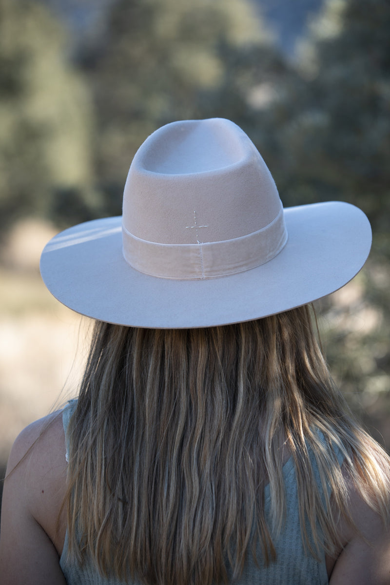 Lack of Color Benson Tri Beige - Wool Felt Hat - Australian Wool - Women's Hat - Ladies Accessory - Accessories - Women's Clothing Store - Women's Shoe Store - O KOO RAN - Big Bear Lake California