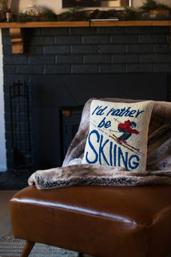 I'd Rather Be Skiing Pillow