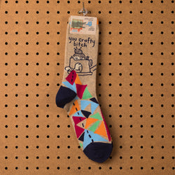 Blue Q You Crafty Bitch Socks - Women's Socks  - Women's Clothing Store - Women's Accessories - Ladies Boutique - O KOO RAN - Big Bear Lake California