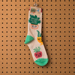 Blue Q Proud Plant Mom Socks - Women's Socks  - Women's Clothing Store - Women's Accessories - Ladies Boutique - O KOO RAN - Big Bear Lake California