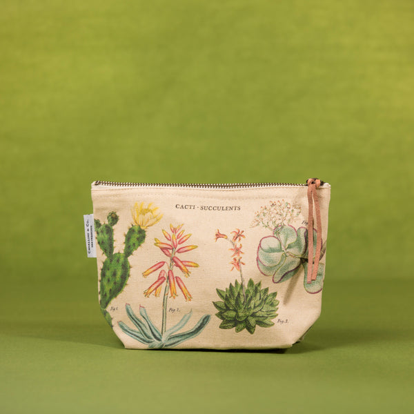 Cavallini Cacti & Succulents Pouch - Pouch - Gift - Women's Clothing Store - Women's Accessories - Ladies Boutique - O KOO RAN - Big Bear Lake California