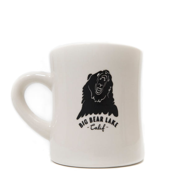 Big Bear Lake Diner Mug - Custom Logo Coffee Mug - Glassware - Custom Made - Old School - Women's Clothing Store - Boutique - O KOO RAN - Big Bear Lake California
