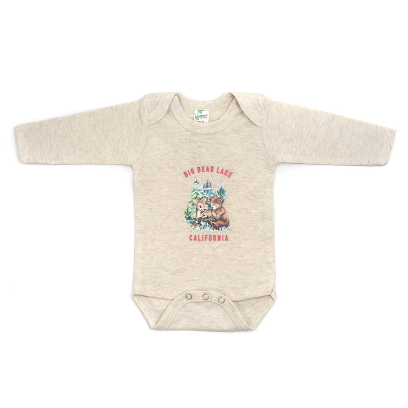 Forest Babies Long Sleeve Onesie - Cream Onesie - Long Sleeve One Piece - Children's Boutique - Baby Clothing Store - Big Bear Lake California - Camp Crib