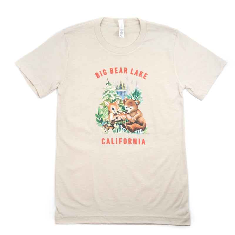 Big Bear Lake Forest Babies Tee - Custom Logo - Souvenir Item - Hand Drawn Logo - Unisex T-Shirt - Women's Clothing Store - Boutique - O KOO RAN - Big Bear Lake California