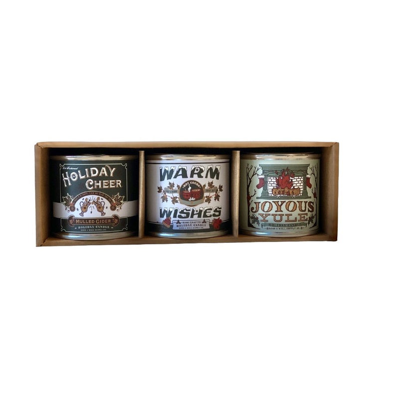 Seasons Greetings Mini Candle Gift Set