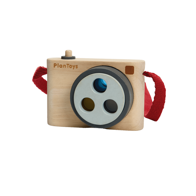 Plan Toys Colored Snap Camera - Baby Toy - Wood Toy - Wooden Toy - Eco-Friendly - Children's Clothing Store - Baby Store - Camp Crib - Big Bear Lake California