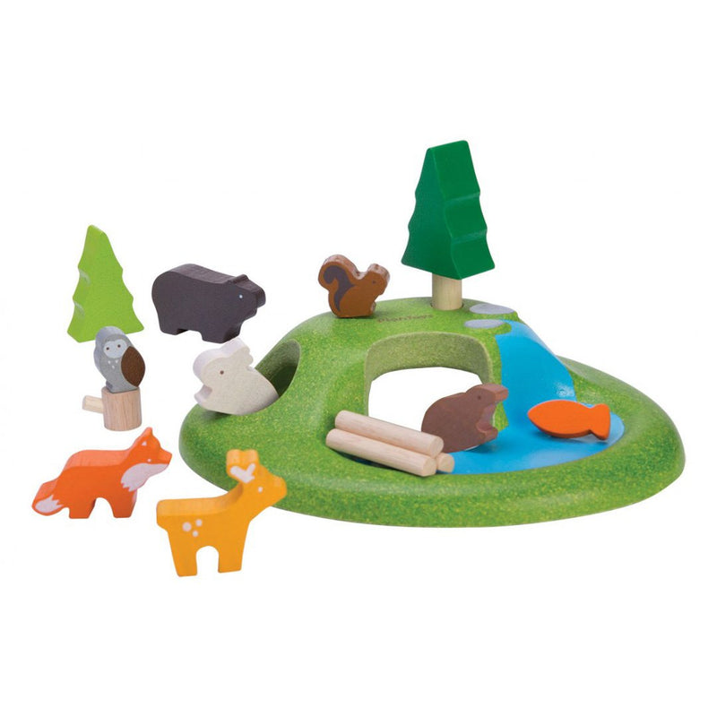 Plan Toys Animal Set - Wood Toys - Children's Toys - Toy Store - Baby Toy - Wooden - Camp Crib - Big Bear Lake - Children's Toys